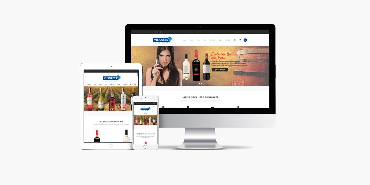 Diseño de tienda online Vinoless