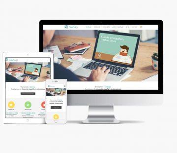 Website Globalja con Whyaweb. Agencia de diseño Web