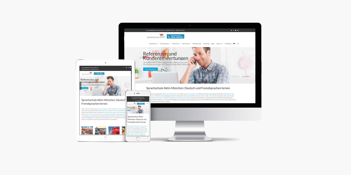 Diseño Web Sprachschule Aktiv München