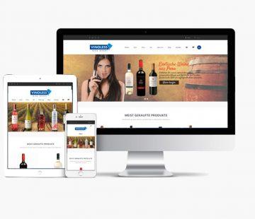 Website Vinoless con Whyaweb. Agencia de diseño Web