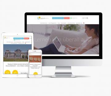 Website German online Training. Whyaweb. Agencia de diseño Web