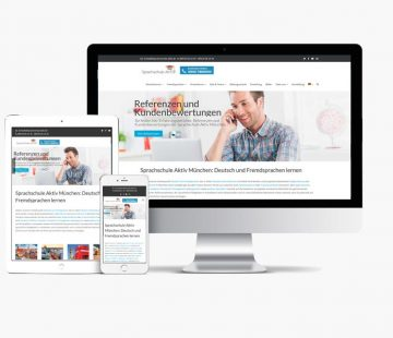 Website Sprachschule Aktiv con Whyaweb. Agencia de diseño Web