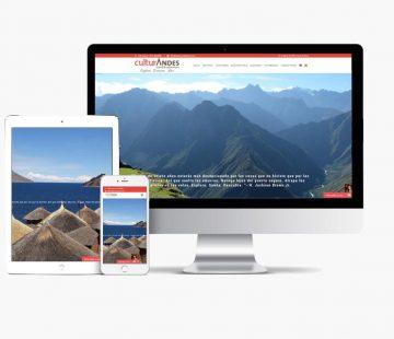 Website Culturandesperu con Whyaweb. Agencia de diseño Web
